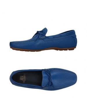 Мокасины FABIANO RICCI. Цвет: синий