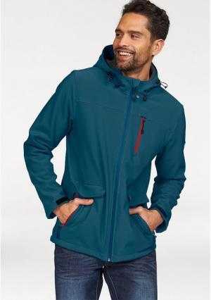 Куртка POLARINO. Цвет: зелено-синий, темно-серый, черный