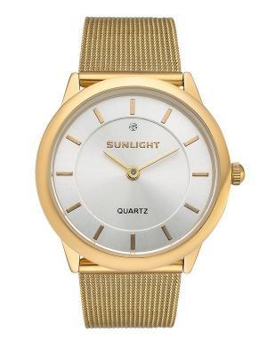 Часы наручные Sunlight. Цвет: золотистый, белый