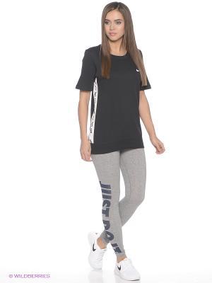 Леггинсы W NSW LEG A SEE JDI Nike. Цвет: серый, серый меланж, серо-зеленый