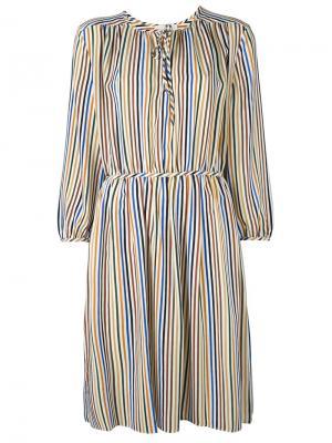 Полосатое крестьянское платье Vanessa Bruno. Цвет: многоцветный