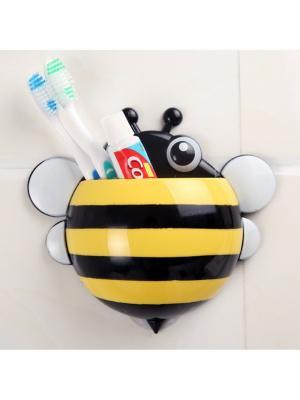 Держатель для зубных щеток и паст Пчёлка RUGES. Цвет: черный, желтый