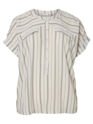 Блузка JUNAROSE. Цвет: серый, черный