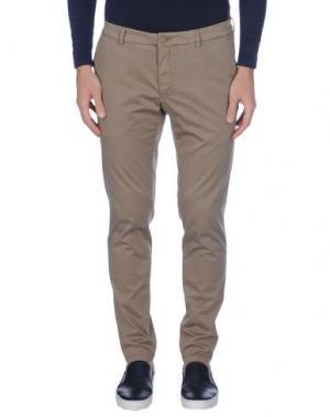 Повседневные брюки DOMENICO TAGLIENTE. Цвет: хаки