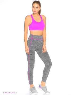 Леггинсы Pro-Fit. Цвет: серый, фиолетовый