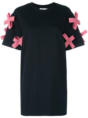 Crosses T-shirt dress Anna K. Цвет: синий