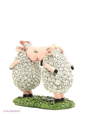Статуэтка Овцы Поцелуй The Comical World of Stratford. Цвет: белый, зеленый, розовый