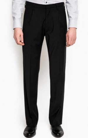 Прямые черные брюки из шерсти DRYKORN. Цвет: черный