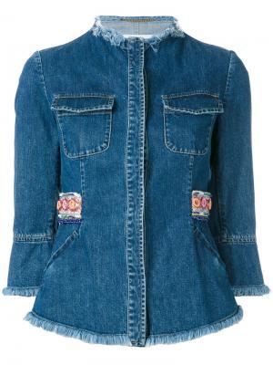Джинсовая куртка Bazar Deluxe. Цвет: синий