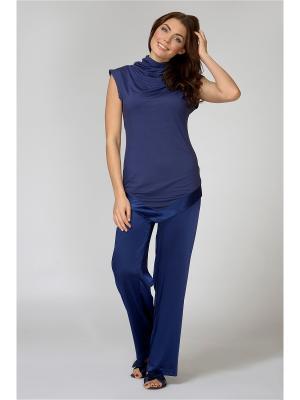Блузка Petit Pas. Цвет: синий