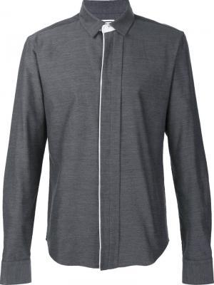 Concealed fastening shirt Wooyoungmi. Цвет: серый