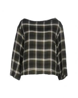 Блузка ZHELDA. Цвет: темно-зеленый