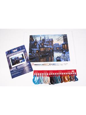 Набор для вышивания нитками Брюссельская ночь Матренин Посад. Цвет: синий, голубой, коричневый