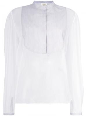 Блузка с прозрачными рукавами Isa Arfen. Цвет: белый