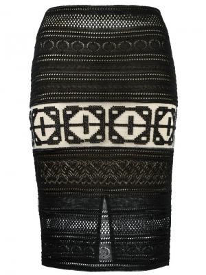 Knit midi skirt Cecilia Prado. Цвет: чёрный