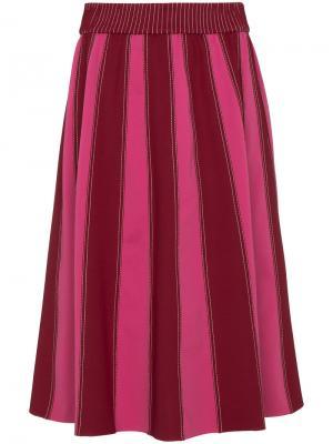 Юбка миди А-силуэта Valentino. Цвет: розовый и фиолетовый
