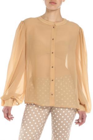 Блузка Ketroy. Цвет: бежевый, прозрачный
