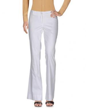 Повседневные брюки TRY ME. Цвет: белый