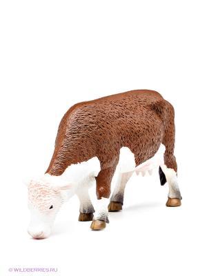 Херефордская корова (пасущаяся) MOJO. Цвет: коричневый, белый