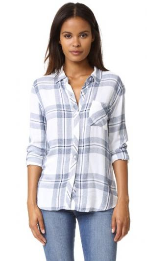 Рубашка на пуговицах Hunter RAILS. Цвет: белый/цвет индиго меланж