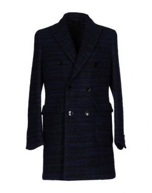 Пальто HEVÒ. Цвет: темно-синий