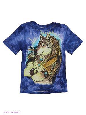 Волк с пером Stella. Цвет: синий
