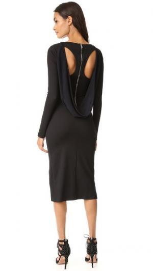 Платье с длинными рукавами Antonio Berardi. Цвет: голубой