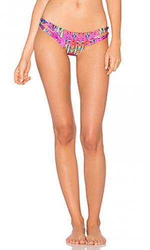 Двусторонние плавки бикини с вырезами Luli Fama. Цвет: розовый