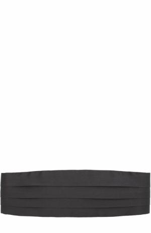 Шелковый камербанд Brioni. Цвет: черный