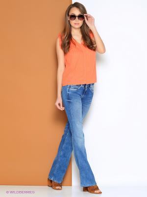 Блузка PEPE JEANS LONDON. Цвет: оранжевый