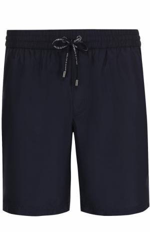Плавки-шорты с карманами Dolce & Gabbana. Цвет: темно-синий