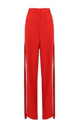 Брюки прямого кроя с защипами и завышенной талией Givenchy. Цвет: красный
