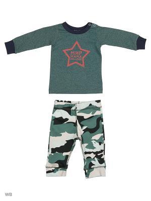 Комплект 2 пр Military Babich Baby. Цвет: черный, зеленый, темно-зеленый, хаки, белый