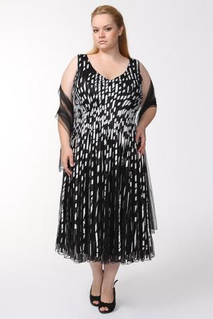 Платье Lia Mara. Цвет: черный, белый