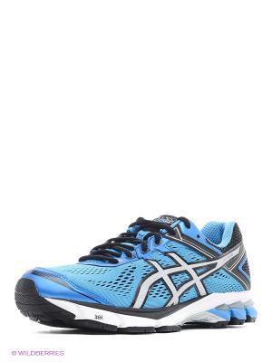 Кроссовки Gt-1000 4 ASICS. Цвет: голубой, серый, черный