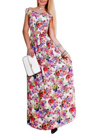 Платье Patricia B.. Цвет: молочный, красный, зеленый
