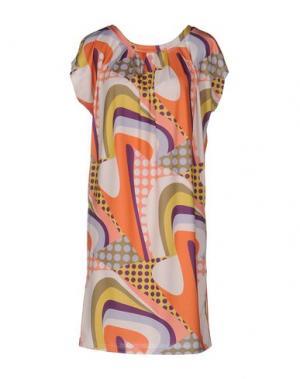 Короткое платье EMISPHERE. Цвет: оранжевый