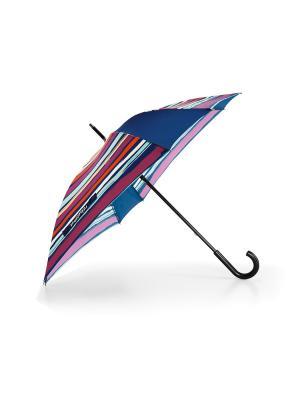 Зонт-трость artist stripes Reisenthel. Цвет: синий,оранжевый,белый