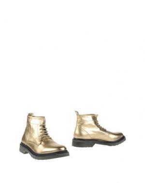 Полусапоги и высокие ботинки LEQARANT. Цвет: золотистый