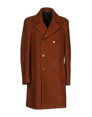 Пальто GUTTHA. Цвет: коричневый