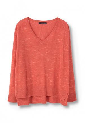 Пуловер Mango. Цвет: коралловый