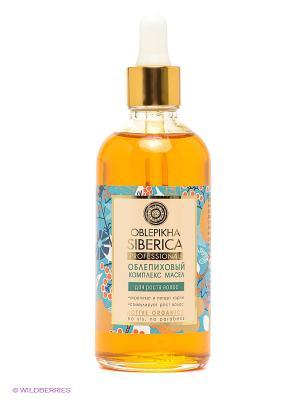 Комплекс масел облепиховый для роста волос Natura Siberica. Цвет: оранжевый, голубой