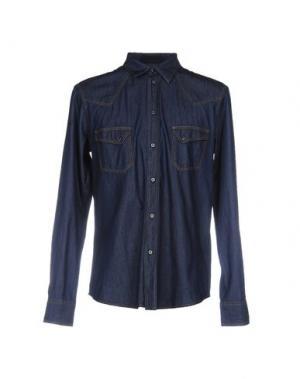 Джинсовая рубашка ITALIANS GENTLEMEN. Цвет: синий