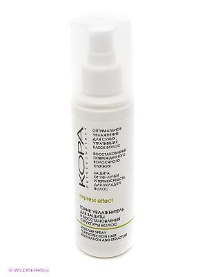 Тоник увлажнитель для защиты и восстановления структуры волос КОРА. Цвет: белый