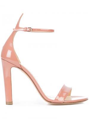 Босоножки с ремешком на щиколотке Francesco Russo. Цвет: розовый и фиолетовый