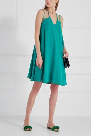 Однотонное платье Chapurin. Цвет: зеленый