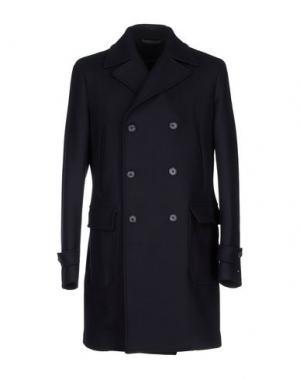 Пальто LUIGI BORRELLI NAPOLI. Цвет: темно-синий