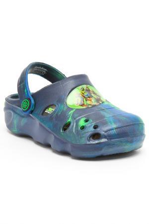 Туфли Turtles. Цвет: синий, зеленый