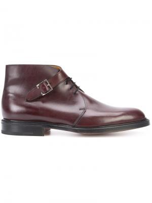 Ботинки с пряжкой сбоку John Lobb. Цвет: розовый и фиолетовый