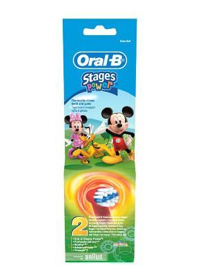 Насадка для электрических зубных щеток, Детская EB10, 2 шт ORAL_B. Цвет: красный